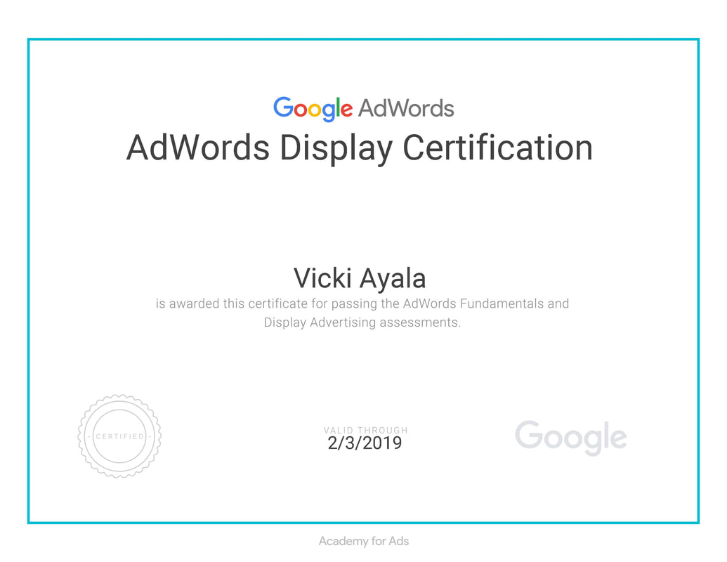 I am certified in google adwords analytics constant contact adwords display certification 1betcityfo Gallery